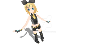 Project Diva Black Star Rin DL by flopp18