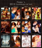 2015 Summary of Art by FlopyLopez