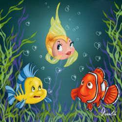 CLEO, FLOUNDER AND NEMO by FERNL