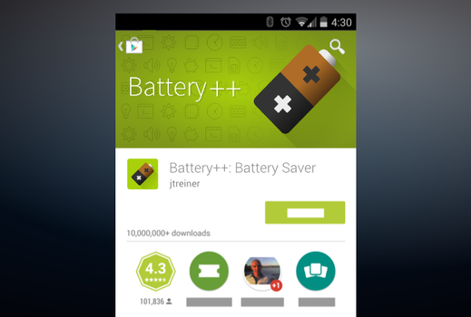 Battery ++ Android Promo Graphic by Artworkbean by artworkbean