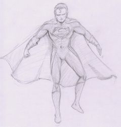 Superman 80th anniversary celebration drawing by MHT002