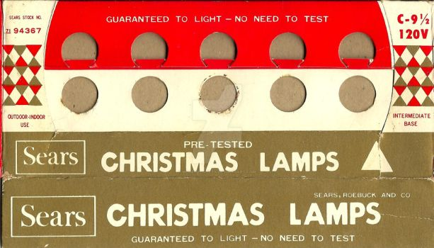 Sears Christmas Lamps by MugenPlanetX