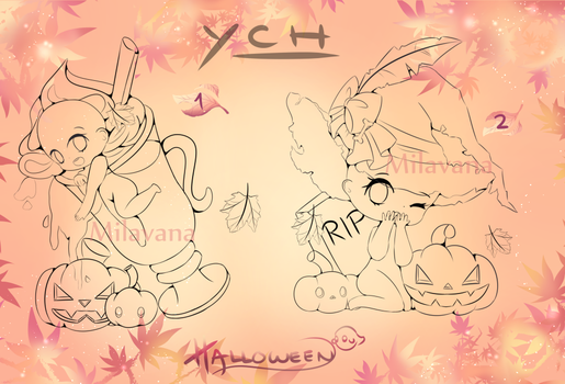 (YCH) HalloweenChibi | Setprice | (1/6 slots OPEN) by Milavana