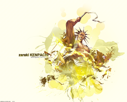 Kenpachi Zaraki Wallpaper by TattyDesigns