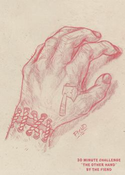 Daily Sketch Challenge 'The Other Hand' by FiendishDesign