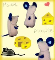 Mouse Plushie by pokeibuni
