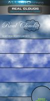 Real Clouds Photoshop Pattern by ravirajcoomar