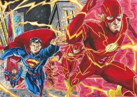 Superman vs Flash E-BAY NOW !!! by BrenoMoreira