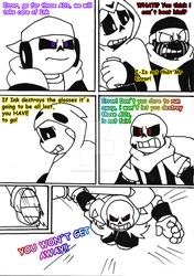 gamertale comic round 2 PAG 4 by zeroa5raven