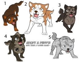 Adoptables3 Puppies- All taken by Bloodthirstwolf