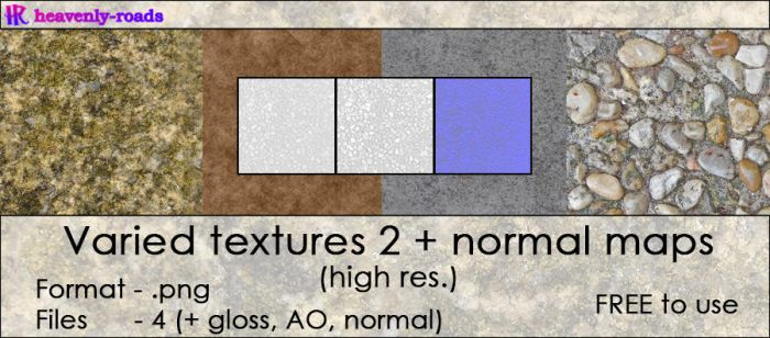 Resources - Varied textures 2 + normal maps by heavenly-roads