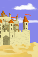 Castle speedpaint by xTernal7