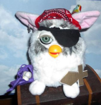 Pirate Furby Redesign by surlawsangel