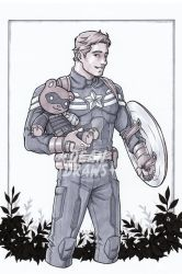 Commission - Steve and Bucky bear by DeanGrayson