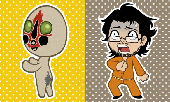 Markiplier and Billy (SCP-173) by miaow