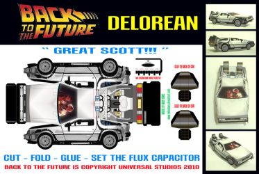 Back to the Future - Delorean by mikedaws