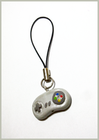 Snes Pad phonestrap by CookingMaru