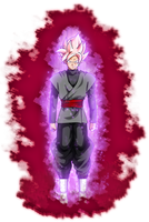 Goku Black ssj Rose v10 kii by jaredsongohan