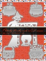 Witch's Cauldron Brushes by Coby17