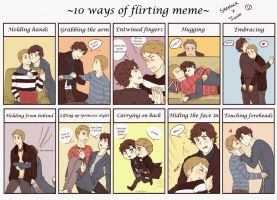 Flirting meme: Johnlock version by Nihui