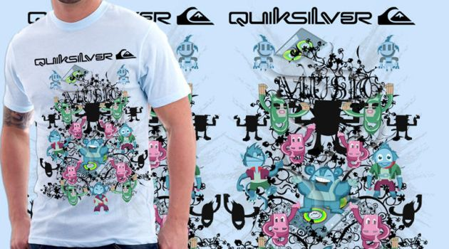 T-design Music for quiksilver by Daniachan