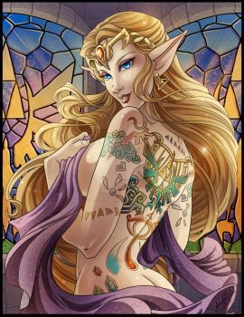 The Girl with the Triforce tattoo by Amelie-ami-chan
