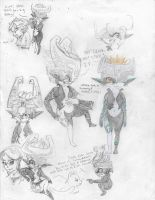 Midna Doodles by LinkytheHero
