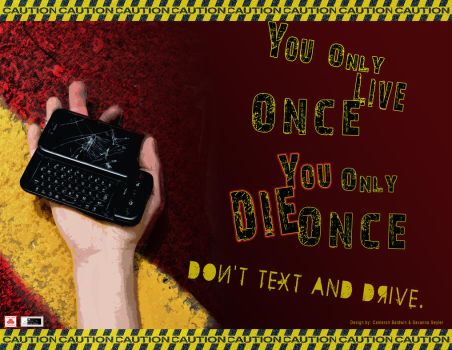 Distracted Driving Poster by evilfirekitty