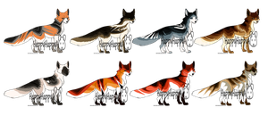 Fox adoptables  {OPEN  2/8} by HappyHappyA