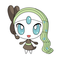 Meloetta pokedoll label vector by yukimi2018