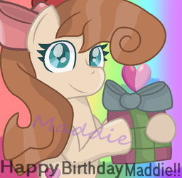 For my birthday. by PonyPainterMaddie