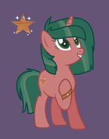 Wooden Sparkle Star by XxHologramLoverxX