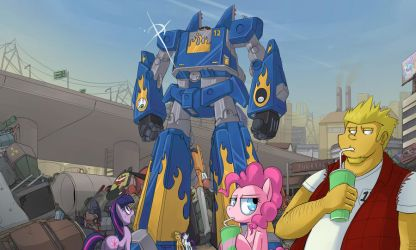 Ponies Dig Giant Robots by UC77