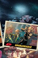 Mars Attacks Judge Dredd cover #3 colors by LostonWallace