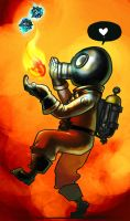 pyro juggling stickybomb with fire by mrtea87