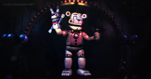 C4D|FNAFSL|Wallpaper|Let The Show Begin by YinyangGio1987