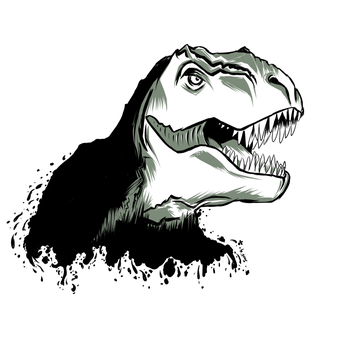 Tattoo request: T-rex by Soozan