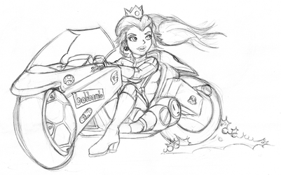 Sketch Mash-up - Princess Peach by bemerry