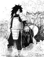 Madara defeats Itachi by minhquach94