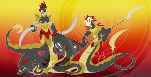 [c] Naga Digimon by glitchgoat