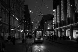 Night Tram by Pajunen