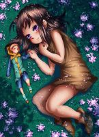 The Fairy King and A Giantess by renealexa