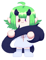 Green pixel by Potato-Belle