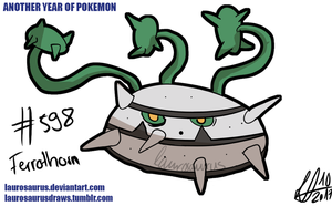 Another year of pokemon: #598 Ferrothorn