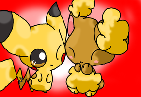 Buneary and Pikachu