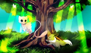 Mew Babysiting by Pand-ASS