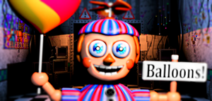 Ballon Boy - Jumpscare (not animated) by FreddyFredbear