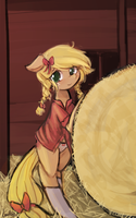 Applejack is your waifu by luminaura