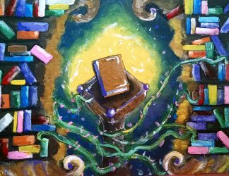 Magical Library by SmartyArtsy1