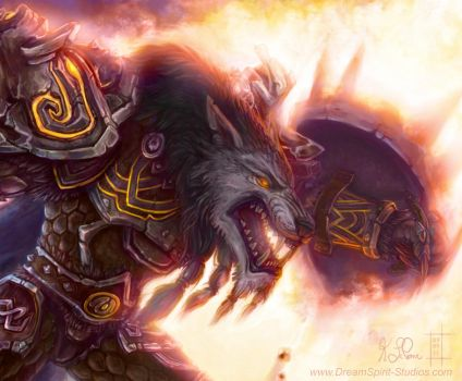 WoW Worgen Prot Warrior Color by Dreamspirit
